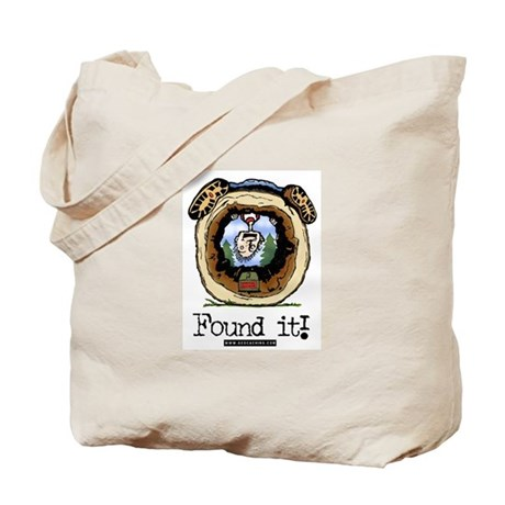 Found It! Geocaching Tote Bag