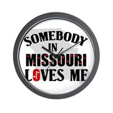 Somebody In Missouri Wall Clock