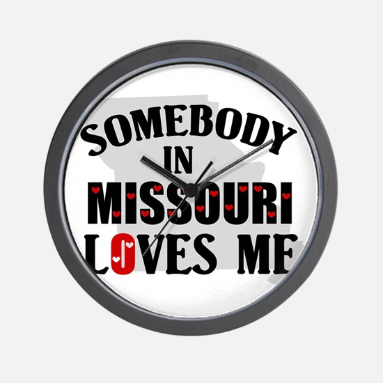 Somebody In Missouri Wall Clock