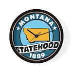 Montana Statehood Wall Clock