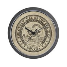 Vintage Nevada Seal Wall Clock
