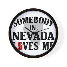 Somebody In Nevada Wall Clock