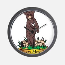 New Mexico Black Bear Wall Clock