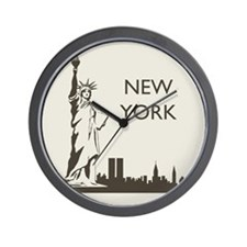 Retro New York Wall Clock