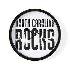North Carolina Rocks Wall Clock