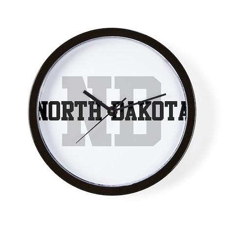 ND North Dakota Wall Clock