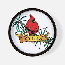 Ohio Symbol Wall Clock
