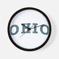 Curve Ohio Wall Clock