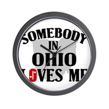 Somebody In Ohio Wall Clock
