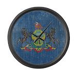 Vintage Pennsylvania Flag Large Wall Clock