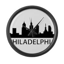 Philadelphia Skyline Large Wall Clock