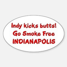 Indy kicks butts! Oval Decal
