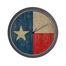 Vintage Texas Flag Wall Clock