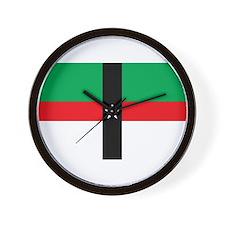Denison Flag Wall Clock