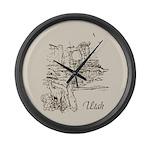 Vintage Utah Large Wall Clock