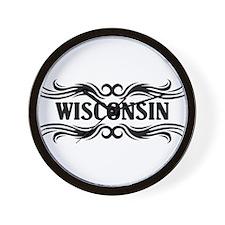 Tribal Wisconsin Wall Clock