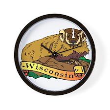 Wisconsin Badger Wall Clock