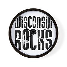 Wisconsin Rocks Wall Clock