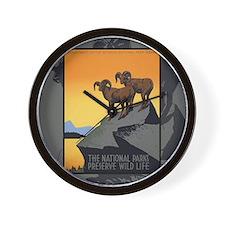 Cute National parks wpa Wall Clock
