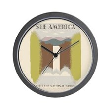 Visit The National Parks Wall Clock