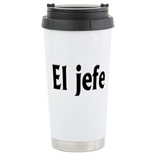 El jefe (The Boss) Travel Coffee Mug