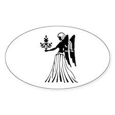 Virgo - The Virgin Oval Decal