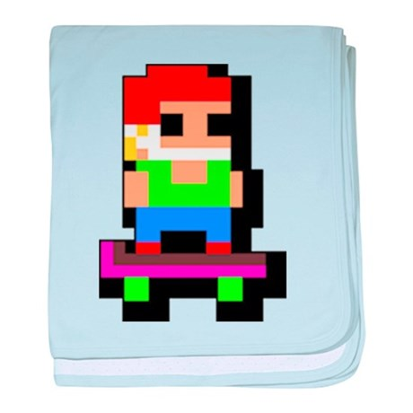 Retro Skater baby blanket