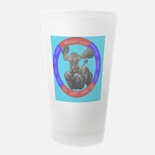 Agility Poodle Frosted Drinking Glass