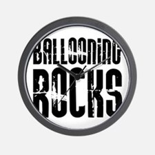 Ballooning Rocks Wall Clock