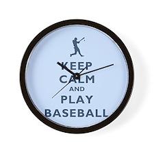 Keep Calm And Play Baseball Wall Clock