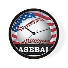 American Baseball Wall Clock