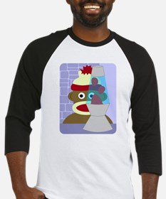 Sock Monkey Retro Lava Lamp Baseball Jersey