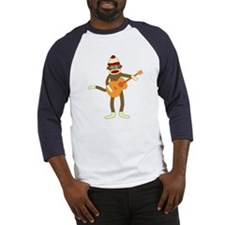 Sock Monkey Acoustic Guitar Player Baseball Jersey