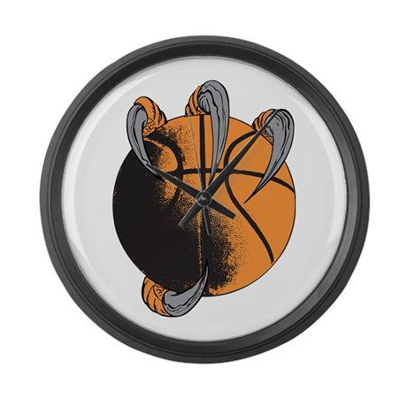 Claw Basketball Large Wall Clock
