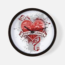Heart Bodybuilding Wall Clock