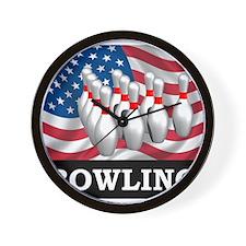 American Bowling Wall Clock