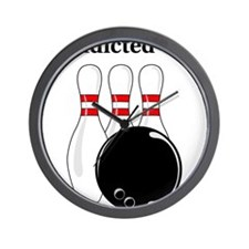 Addicted To Bowling Wall Clock