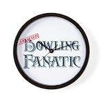 Bowling Fanatic Wall Clock