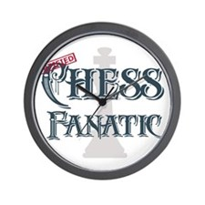Chess Fanatic Wall Clock
