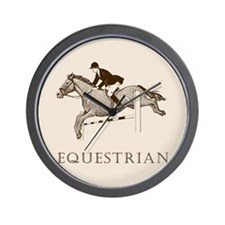 Retro Equestrian Wall Clock