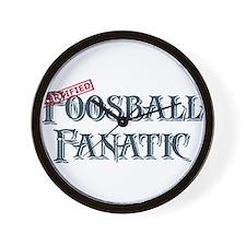 Foosball Fanatic Wall Clock