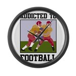 Addicted To Football Large Wall Clock