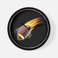 Flaming Football Wall Clock