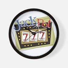 Jackpot 777 Wall Clock