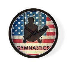 Grunge USA Gymnastics Wall Clock