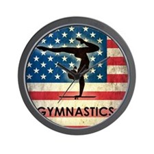 Grunge USA Gymnastics Wall Clock