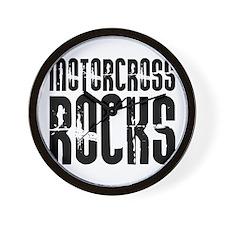 Motorcross Rocks Wall Clock