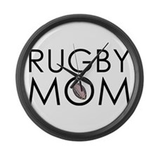 Rugby Mom Large Wall Clock