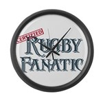 Rugby Fanatic Large Wall Clock
