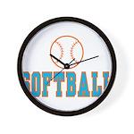 Softball Wall Clock